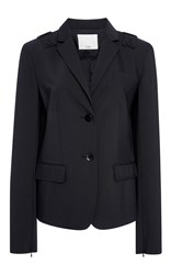 Tibi Shrunken Wool Blazer Black
