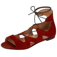 Alice By Temperley Somerset By Alice Temperley Lopen Tie Front Sandals Red