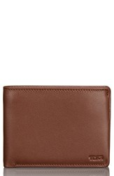 Tumi Men's Leather Wallet Brown Brown Textured