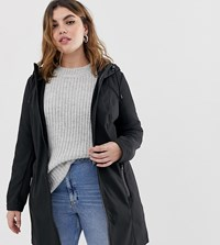 Junarose Hooded Longline Coat Black