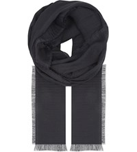 Rick Owens Walrus Cotton And Cashmere Scarf Black