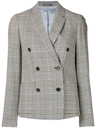 Paul Smith Ps By Check Double Breasted Blazer Black