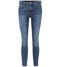 7 For All Mankind The Ankle Skinny Skinny Jeans Blue