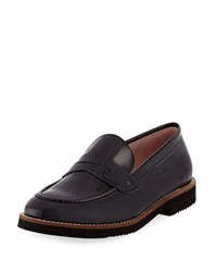 Andre Assous Patent Leather Loafer Black