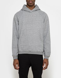 John Elliott Raw Edge Raglan Hoodie Dark Grey