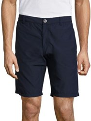 Vilebrequin Straight Fit Solid Bermuda Shorts Navy