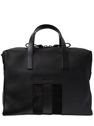 Bally Web Leather Briefcase