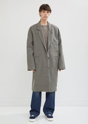 6397 Felted Single Breasted Coat Oatmeal