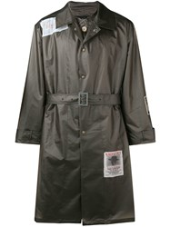 Martine Rose Wanted Patches Raincoat Grey