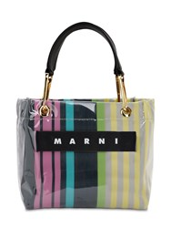 Marni Glossy Grip Small Square Tote Bag Pink Candy