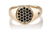 Tom Wood Women's Mini Oval Faced Signet Ring Gold