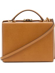 Mark Cross 'Hadley Baby' Flap Bag Nude And Neutrals
