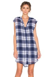 Bb Dakota Nelson Button Up Dress Navy