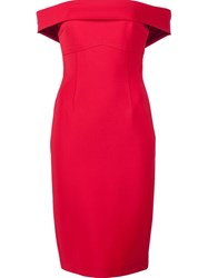 Yigal Azrouel 'Off The Shoulder' Dress Red