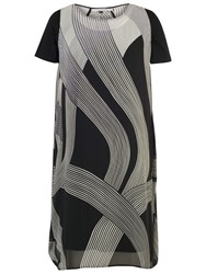 Chesca Abstract Ombre Dress Ivory Black