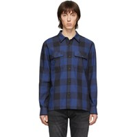 Nudie Jeans Blue Block Check Sten Shirt