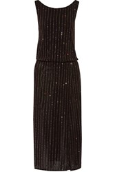 Marc Jacobs Wrap Effect Glitter Embellished Stretch Knit Dress Black