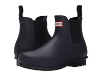 Hunter Original Chelsea Dark Sole Midnight Men's Rain Boots Navy