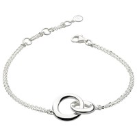 Kit Heath Bevel Double Link Chain Bracelet Silver