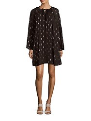 Iro Paula Printed Shirt Dress Black