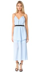 Endless Rose Strappy Maxi Dress Dusty Blue