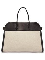 The Row Margaux 17 Large Canvas Tote Bag Beige Multi