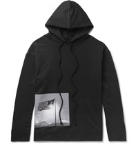 Raf Simons Robert Mapplethorpe Foundation Printed Loopback Cotton Jersey Hoodie Black