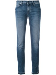 Jacob Cohen Slim Fit Jeans Women Cotton Spandex Elastane 26 Blue