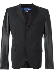 Junya Watanabe Comme Des Garcons Man Leather Effect Blazer Grey