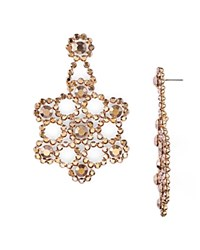 Kate Spade New York Faceted Snowflake Drop Earrings Rose Gold