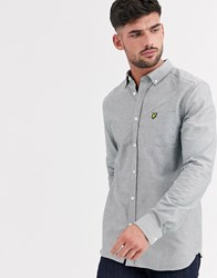 Lyle And Scott Oxford Shirt In Khaki Green
