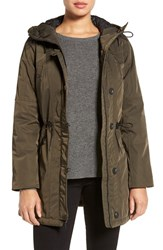 Andrew Marc New York Women's 'Chrissy' Rain Coat With Removable Hood Loden