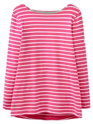 Joules Harbour Stripe Jersey Top Neon Candy Stripe