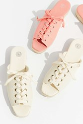 Urban Outfitters Alix Lace Up Espadrille Sandal Ivory