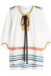 Sonia Rykiel Embroidered Tunic With Cotton And Linen