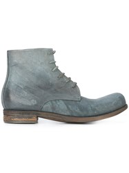 A Diciannoveventitre Lace Up Boots Men Horse Leather Leather 44 Grey