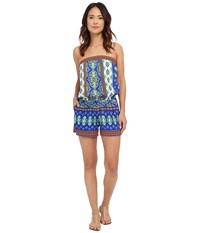 Hale Bob Mojitos After Dark Romper Blue Women's Jumpsuit And Rompers One Piece