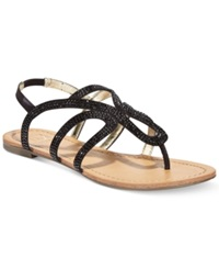 Material Girl Serena Flat Thong Sandals Only At Macy's Women's Shoes Black