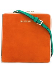 Balmain Box Bag Orange