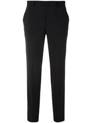 Red Valentino Tailored Cropped Trousers Women Polyester Spandex Elastane Acetate Virgin Wool 38 Black
