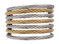 Alor Ring Modern Cable Mix 02 34 S760 00 Stainless Steel Gold Ring