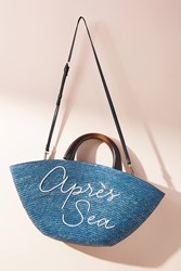 Eugenia Kim Apres Sea Straw Tote Bag Sky