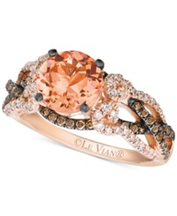 Le Vian Peach Morganite 1 3 8 Ct. T.W. And Diamond 5 8 Ct. T.W. Ring In 14K Rose Gold
