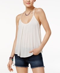 Roxy Juniors' Fly With Me Strappy Crisscross Tank Top White