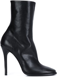 Haider Ackermann Side Zip Heeled Boots Black