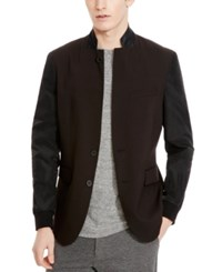 Kenneth Cole New York Men's Convertible Colorblocked Blazer Black Combo
