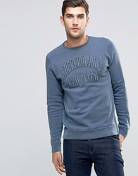 Abercrombie And Fitch Sweatshirt Washed Navy Muscle Slim Fit Navy