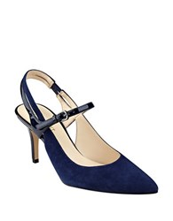 Nine West Kookie Suede Pumps Navy Blue
