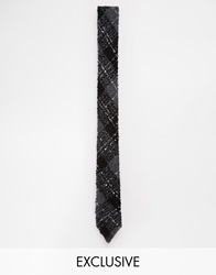 Reclaimed Vintage Check Knitted Tie Black