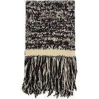 Joseph Black And Off White Knit Scarf